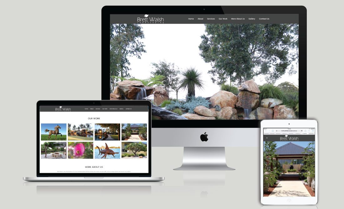 Brett Walsh Landscapes Website Development, White Canvas Design, Website Development, E-Commerce Websites, Mobile App Development, Graphic Design, Strategic Marketing, Perth Western Australia, Marketing Support, Websites, Website Design