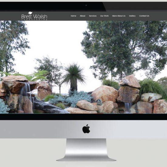Brett Walsh Landscapes Website Development, White Canvas Design, Website Development, E-Commerce Websites, Mobile App Development, Graphic Design, Strategic Marketing, Perth Western Australia, Marketing Support, Websites, Website Design