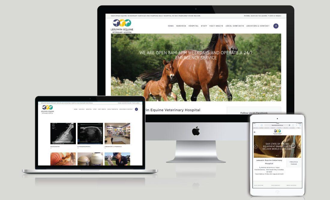 Leeuwin Equine Veterinary Hospital Website Development, White Canvas Design, Website Development, E-Commerce Websites, Mobile App Development, Graphic Design, Strategic Marketing, Perth Western Australia, Marketing Support, Websites, Website Design