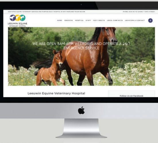 Leeuwin Equine Veterinary Hospital Website Development, White Canvas Design, Website Development, E-Commerce Websites, Mobile App Development, Graphic Design, Strategic Marketing, Perth Western Australia, Marketing Support, Websites, Website Design