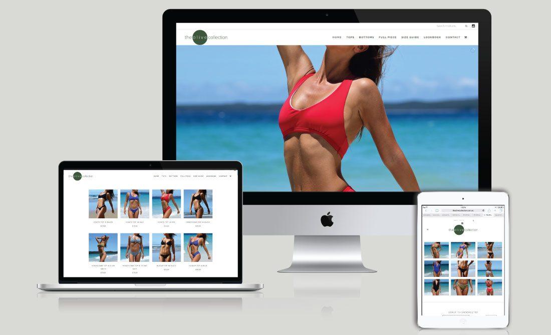 The Olive Collection E-Commerce Website, White Canvas Design, Website Development, E-Commerce Websites, Mobile App Development, Graphic Design, Strategic Marketing, Perth Western Australia, Marketing Support, Websites, Website Design