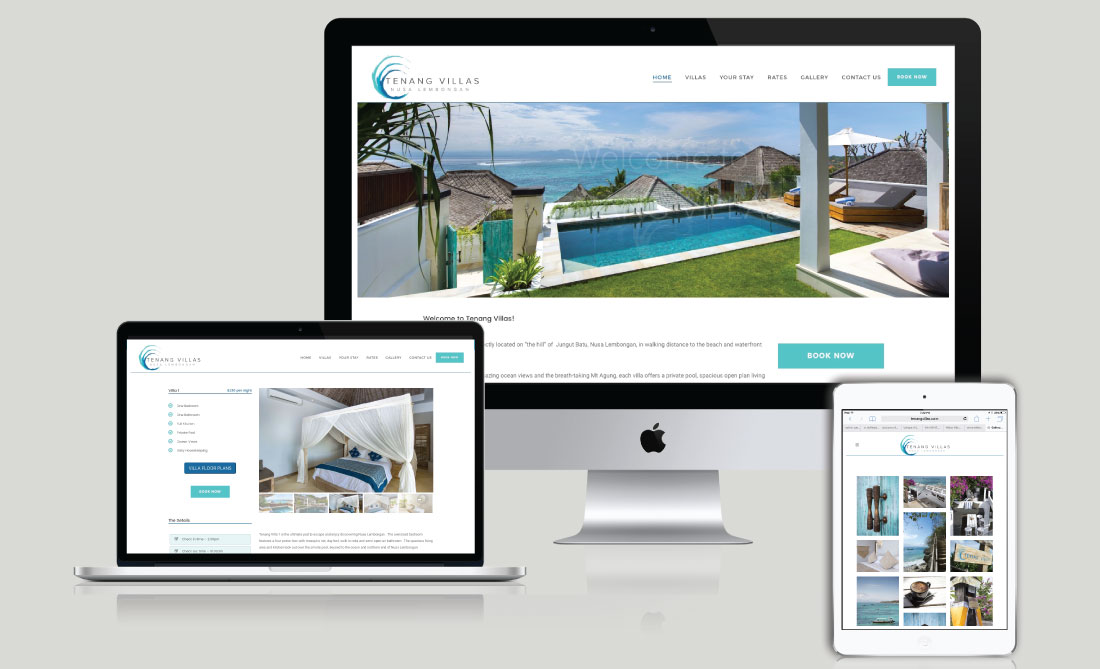 Tenang Villas Website Development, White Canvas Design, Website Development, E-Commerce Websites, Mobile App Development, Graphic Design, Strategic Marketing, Perth Western Australia, Marketing Support, Websites, Website Design