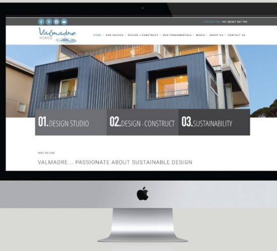 Valmadre Homes Website Development, White Canvas Design, Website Development, E-Commerce Websites, Mobile App Development, Graphic Design, Strategic Marketing, Perth Western Australia, Marketing Support, Websites, Website Design