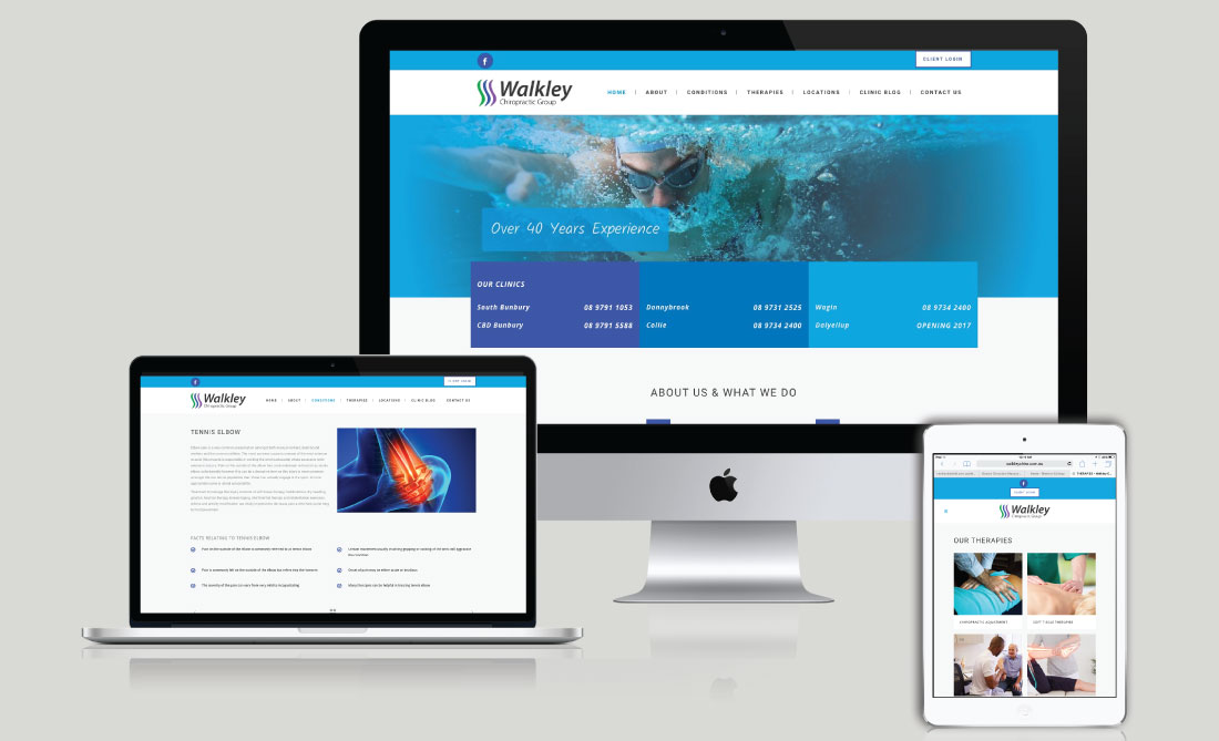 Walkley Chiropractic Group Website Development, White Canvas Design, Website Development, E-Commerce Websites, Mobile App Development, Graphic Design, Strategic Marketing, Perth Western Australia, Marketing Support, Websites, Website Design
