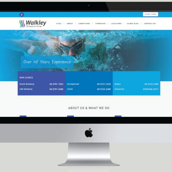 Walkley Chiropractic Group Website Development, White Canvas Design, Website Development, E-Commerce Websites, Mobile App Development, Graphic Design, Strategic Marketing, Perth Western Australia, Marketing Support, Websites, Website Design