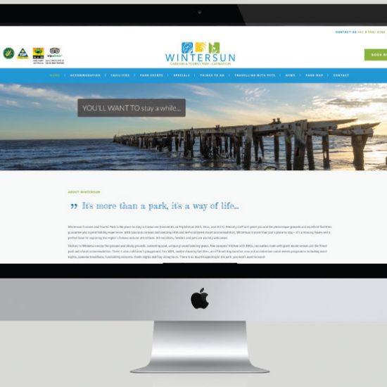 Wintersun Caravan Park Website Development, White Canvas Design, Website Development, E-Commerce Websites, Mobile App Development, Graphic Design, Strategic Marketing, Perth Western Australia, Marketing Support, Websites, Website Design