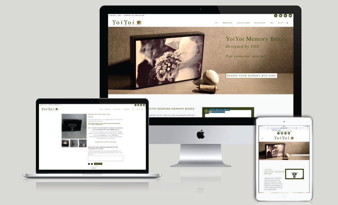 YoiYoi E-Commerce Website, White Canvas Design, Website Development, E-Commerce Websites, Mobile App Development, Graphic Design, Strategic Marketing, Perth Western Australia, Marketing Support, Websites, Website Design